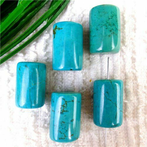 Multiple Shape Choice Natural Africa Turquoise Heigth Hole Spacer Beads BR110