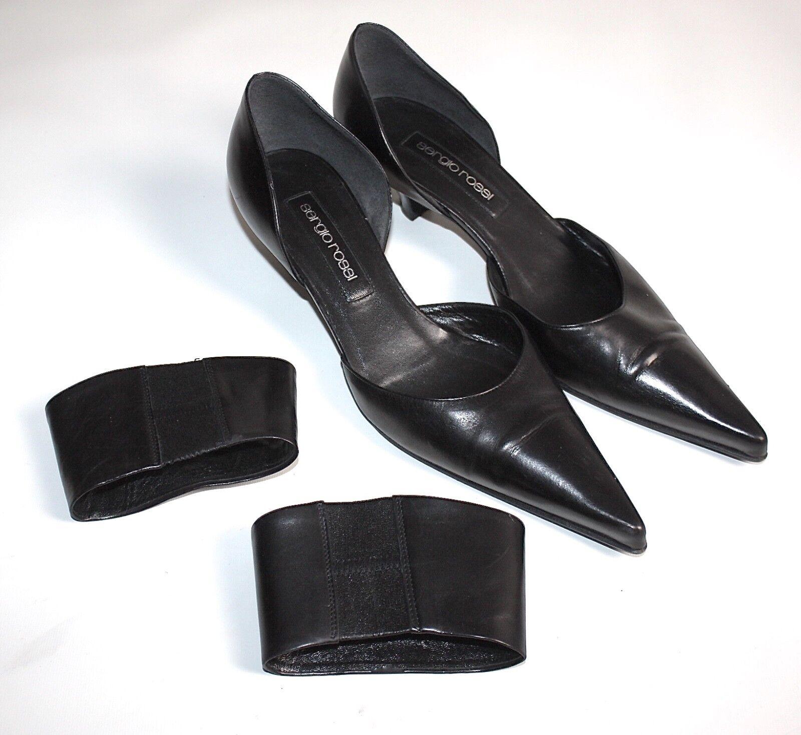 Sergio Rossi  Chaussures Femmes Escarpins Manchettes Business 38,5 Noir  4526