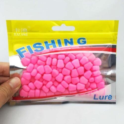 100Pcs Novelty Plastic Carp Corn Fishing Lure Flavour Bait Soft Floating Q