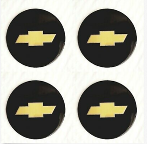 "4 NEW Wheel Center Cap Logo Sticker Decal Emblem 3.5"" 88mm CHEVY CHEVROLET"