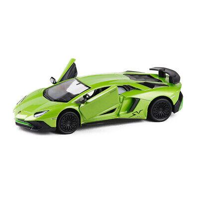 1:36 Lamborghini Aventador LP750-4 SV Die Cast Modellauto Auto Spielzeug Blau
