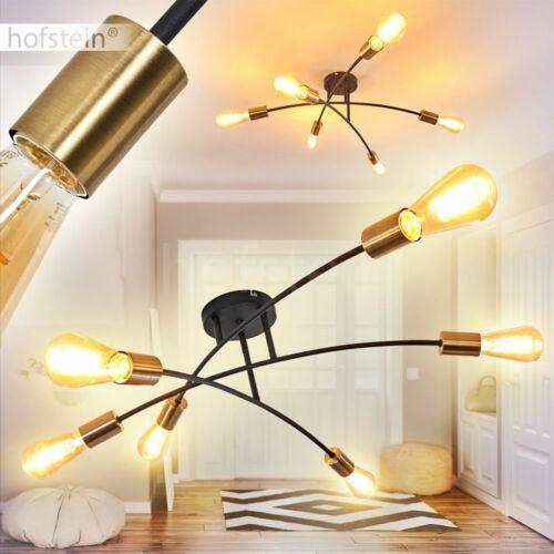 6-flammige Decken Lampe Flur Dielen Wohn Schlaf Zimmer Beleuchtung schwarz//gold