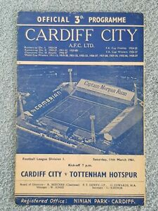 1961-CARDIFF-CITY-v-TOTTENHAM-PROGRAMME-FIRST-DIVISION-DOUBLE-SEASON