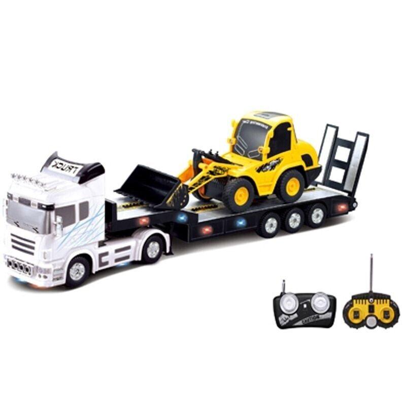6CH RC camión semi remolque Long Hauler Vehículo Con Control Remoto Conjunto de Bulldozer