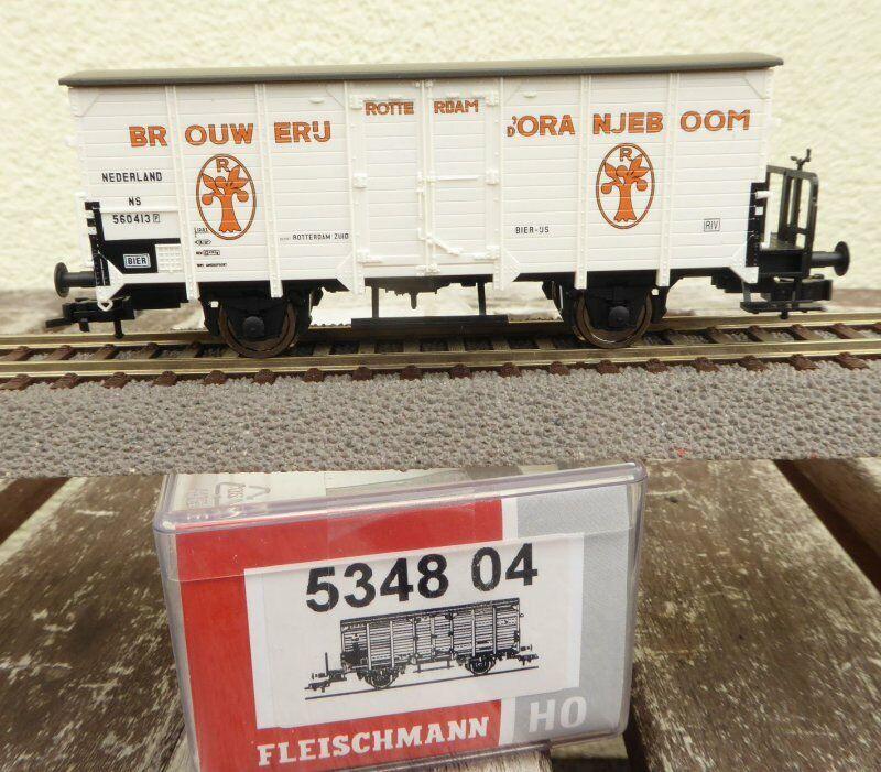 Fleischmann 534804 H0 Furgoneta Cerveza Brouwerij Oranjeboom el NS Holanda Época