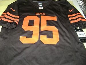 Myles Garrett   95 Cleveland Browns Jersey BOY OR GIRL LARGE NEW ... ba26abf26