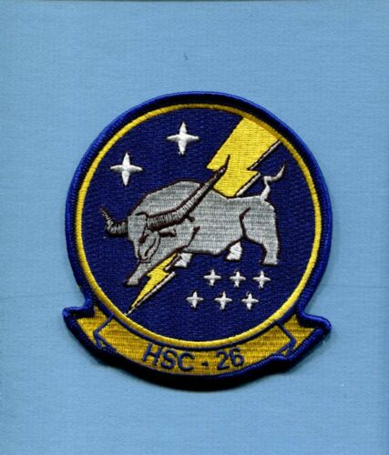 HSC-26 CHARGERS US NAVY SIKORSKY COMBAT SUPPORT Helicopter Squadron Jacket Patch