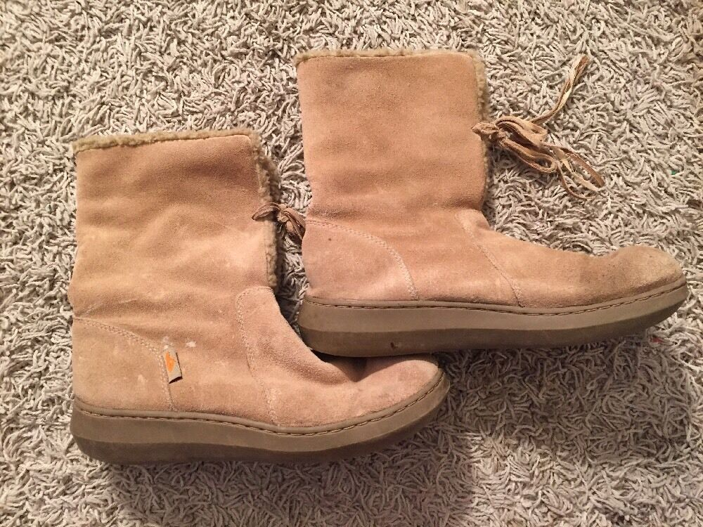 Women's Rocket Dog Tan Suede Boots, Size 9