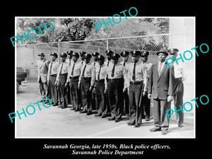 OLD-LARGE-HISTORIC-PHOTO-OF-SAVANNAH-GEORGIA-THE-BLACK-POLICE-SQUAD-c1950