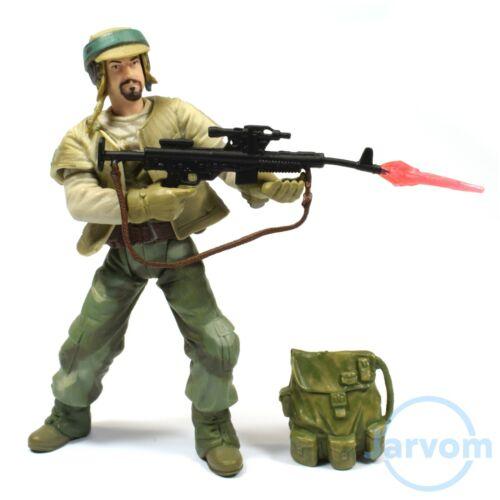 Star Wars Saga Collection 02-33 Endor Rebel Soldier barbu Loose complet