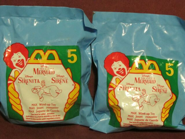 Disneys THE LITTLE MERMAID #5 MAX McDonalds - 1996 Wind-Up Toy
