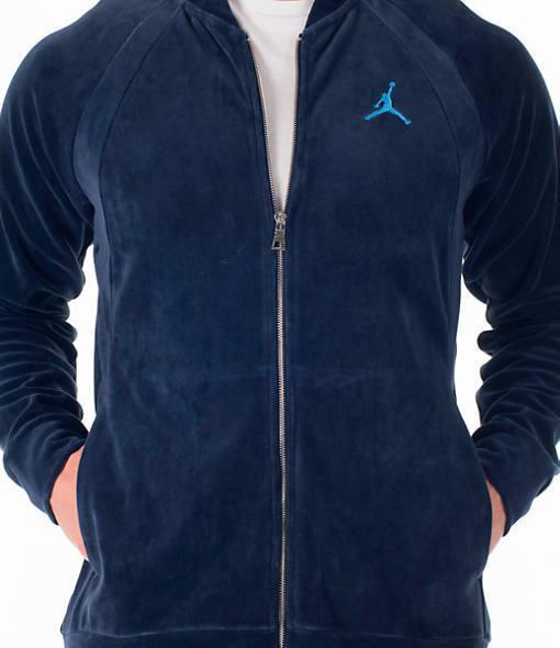 63d83b7095dcc1 Jordan JSW Velour Jacket Dark Blue Men Large Ah2357-410 for sale online