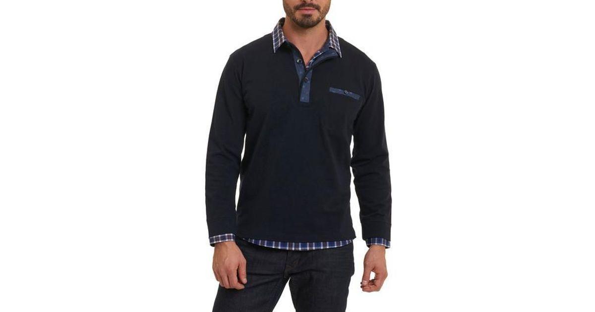 ROBERT GRAHAM Chansey TailoROT Fit Shirt color Navy Größe L, XL NEW