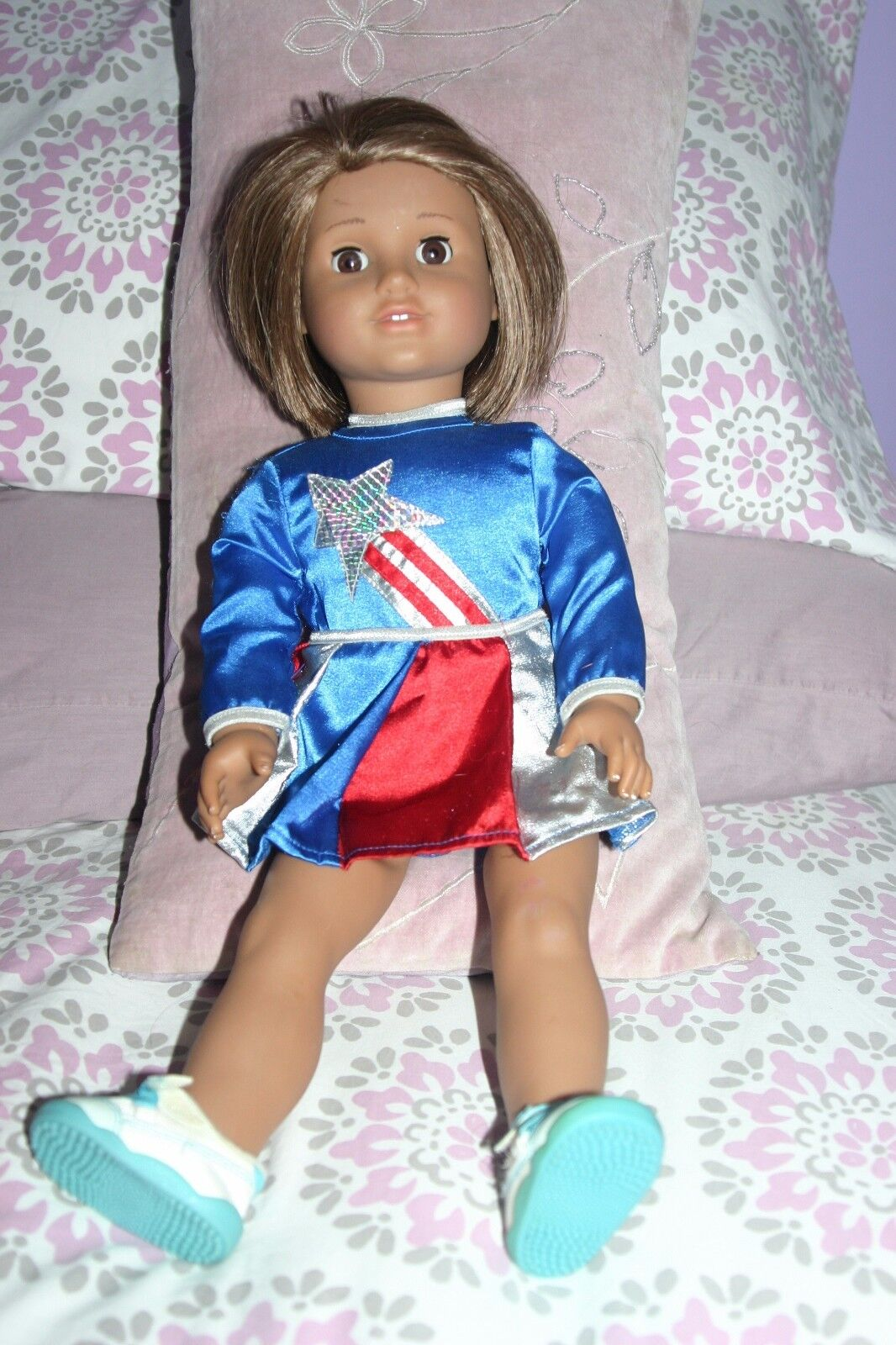 American Girl Doll Just Like Me Strawb-Blonde short hair with braun eyes..Excl