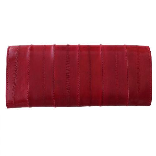 Genuine Eel Skin Cuir Bouton Portefeuille Purse