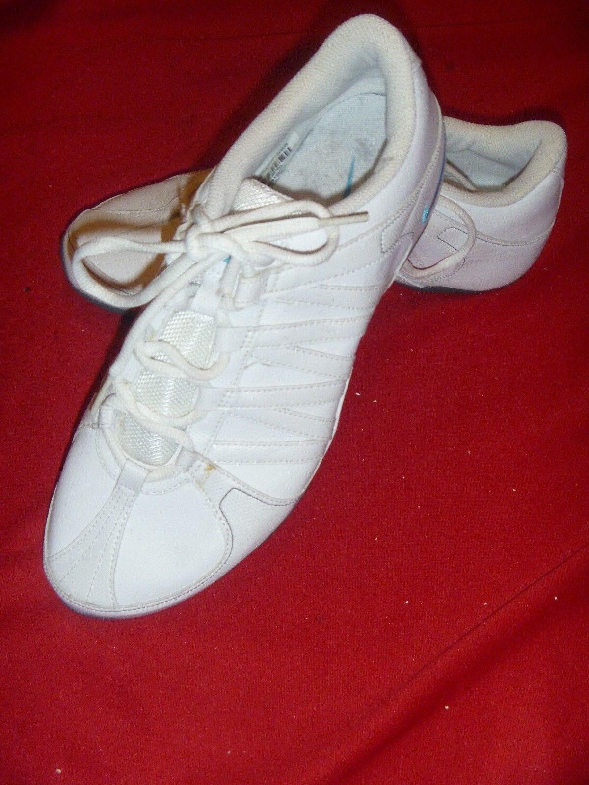 NIKE White Leather NE MARQUE PAS PAS PAS Non marking Aerobic Tennis shoes Sz 9 1 2 yoga 024d4e