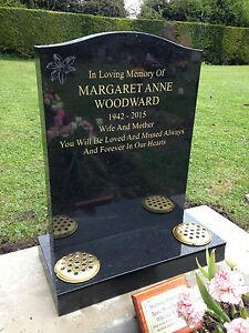 Personalised-Granite-Headstone-Memorial-Stone-UK-FITTING-Unlimited-Lettering