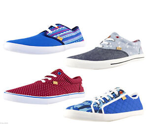 Homme à Lacets Casual toile chaussures tennis baskets 4 Couleurs Taille 7-14