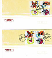 2001 Australian Rock  First Day Cover 2 Peal & Stick and Block of 4