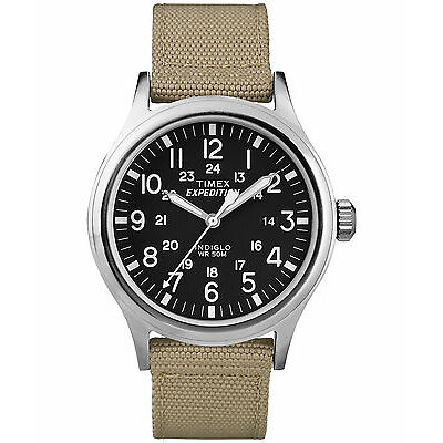 Orologio Timex T49962 expedition scout indiglo uomo classic nylon beige