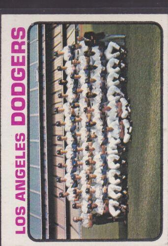 *55261 1973 TOPPS BASEBALL LOS ANGELES DODGERS TEAM #91 EX