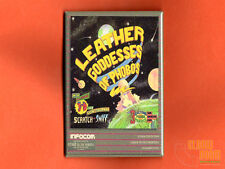 "Leather Goddesses of Phobos box art 2x3"" fridge/locker magnet Infocom"