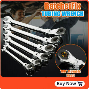 8~19MM RatchetFix Tubing Wrench Spanner with Flexible Head Car Hand Repair Tools