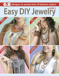 Easy Diy Jewelry Book 2 Glass Beads Beaded Beading Wire Chain Cords