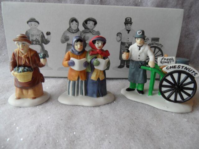 Violet Vendor Carolers Chestnut Vendor set of 3 Dept 56 #55808 Heritage Village