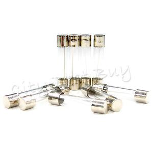 20 Twenty pcs 2A Two A 250V Quick Fast Blow Glass Tube Fuses 5x20mm Small 2000mA