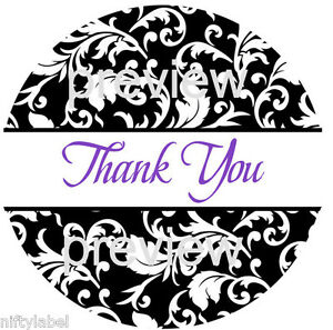 "63-1"" Unicorn #3 Thank You Stickers Labels Envelope Seals"
