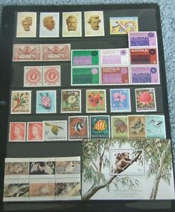 AUSTRALIA-266-1459-F-VF-MNH-1953-1995-COLLECTION-OF-STAMPS-and-SOUVENIR-SHEET