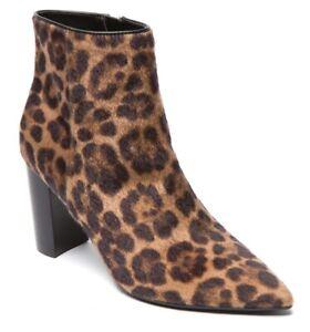 Nine West Brown Leopard Faux Hair