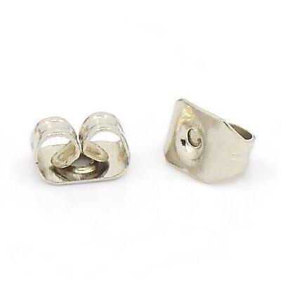 100 Ohrmutter Metall Verschluss f/ür Ohrstecker Ohrring Stopper 5mm Gold F86
