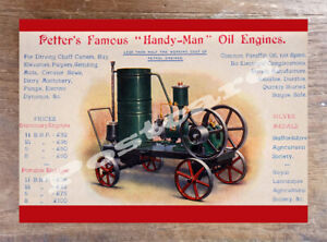 Historic-Petter-039-s-Famous-Handy-039-Man-Oil-Engines-Advertising-Postcard