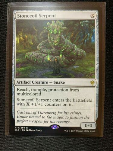 MTG Magic Card Stonecoil Serpent 235//269 Throne of Eldraine NM