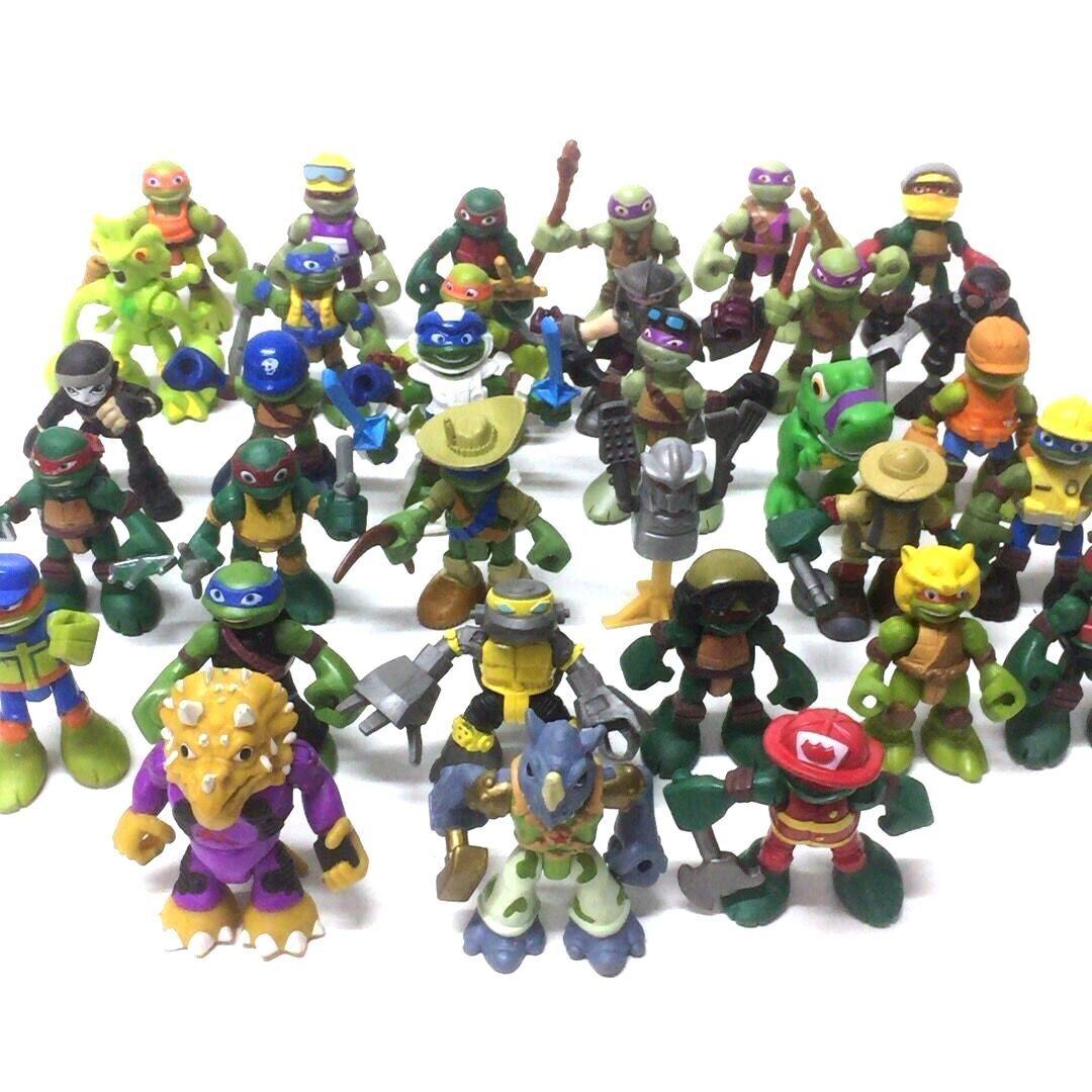 5PCS TMNT Half-Shell Heroes Teenage Mutant Ninja Turtle Collectible toys random
