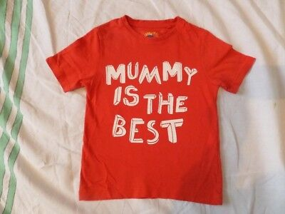 Affidabile Tu Kids Unisex Arancione Manica Corta Slogan T-shirt 100% Cotone Taglia 2-3 Anni- Caldo E Antivento