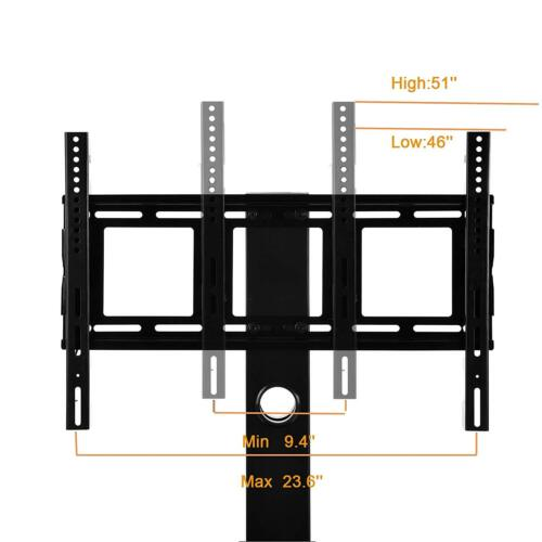 """Tempered Glass Black TV Stand Console Media 32/""""-55/"""" with Bracket Plasma LCD TV"""