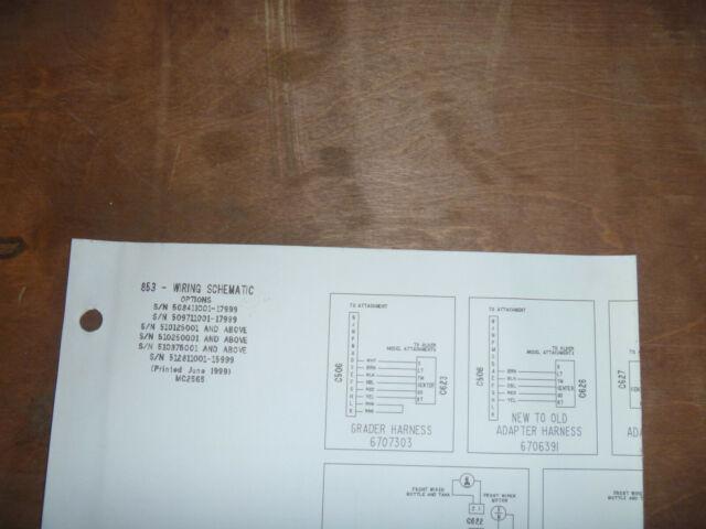 Bobcat 853 Skid Steer Electrical Wiring Diagram Schematic