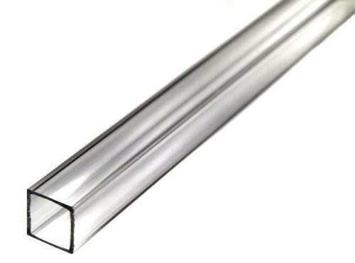 """Nominal Clear Extruded Acrylic Square Tube 2/"""" OD x 1//8/"""" Wall x 72/"""" Long"""