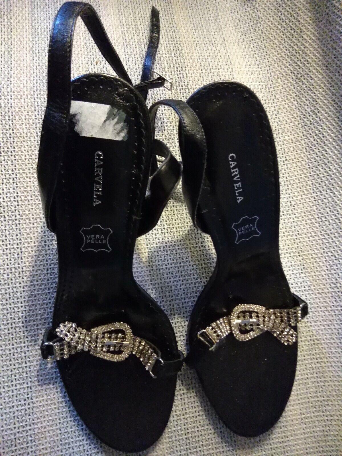 0054aec6a7 Women's black Diamanté High heel sandals Size 7 Carvela neervb6778 ...
