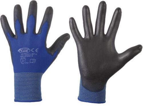 12 par de nylon trabajo guantes montaje guantes 0720 StrongHand Lintao talla 9