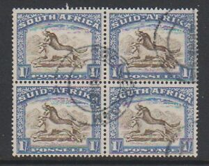 South-Africa-1939-1s-Brown-amp-Chalky-Blue-Block-of-4-F-U-SG-62