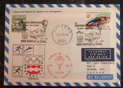 1975 Gotzens Autriche Ballon Vol Housse à Batawa Canada Innsbruck Hiver Sport Keep You Fit All The Time Europe Austria