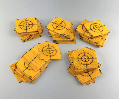 JCstarrie Reflector Stickers 30mm 50 50mm 50pcs 100pcs Reflective Safety Stickers Tape Targeting Target Total Station 30