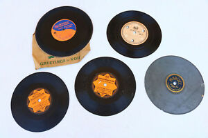 Lot-Home-Recorded-Records-very-Old-Antique-Vintage