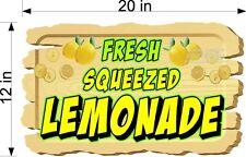 12 X 20 Full Color Vinyl Decal Wooden Sign Look Fresh Squeezed Lemonade