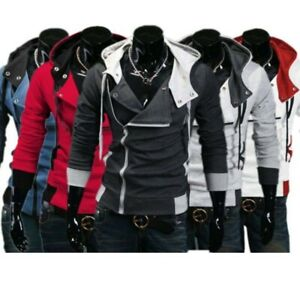 Mens-Fashion-For-Assassins-Jacket-Creed-Cosplay-Cool-Slim-Costume-Hoodie-Lot