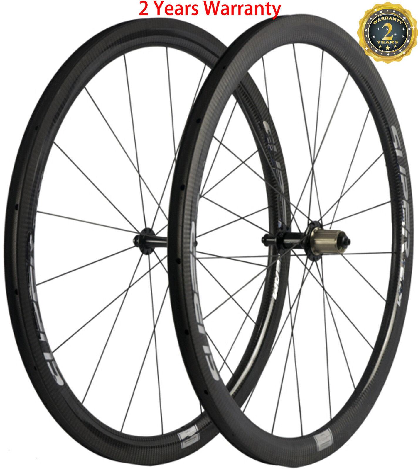 Full Carbon Fiber Wheels Wheelset 40mm  U Shape 25mm Width Light Weight Smith Hub  for cheap